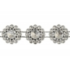 Plastic Trim Silver Diamond Cut 15mm Flower